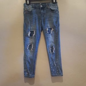 7 For All Mankind Girl Distressed Jeans Size 6X